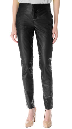 Silk Backing Leather Trouser