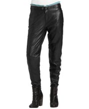 Contrast-zip-trimmed-leather-pants