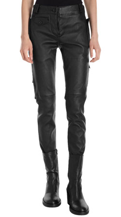 Lambskin Leather Utility Pants