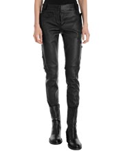 Lambskin-leather-utility-pants