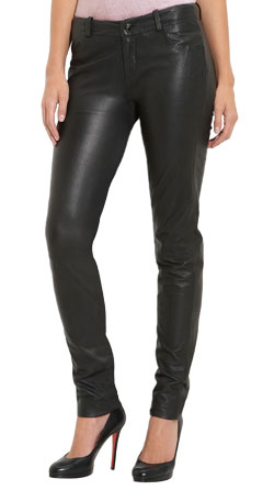 Saucy Tight Fit Leather Pant for Women