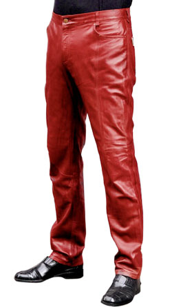 Fashionable leather pant for men