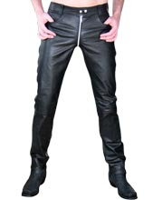 Trendy Horse Ride Leather Pants for Men