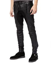 Sturdy Super Tight Fit Mens Leather Pant