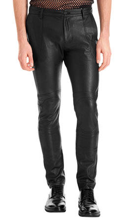 Skin Fit Athletic Leather Pants