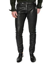 metallic-style-studded-detailed-leather-pant