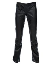 Enticing Leather Pant with Flair Bottoms