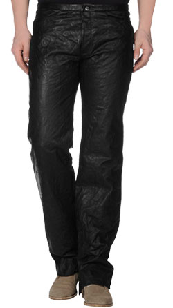 Solid Colored Leather Pant