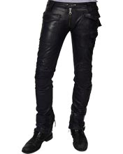 Vintage-moto-lambskin-leather-pant