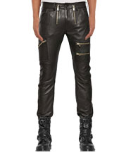 Mens Sporty Luxe Pants with Front Accents Zips