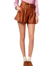 belted-womens-leather-shorts