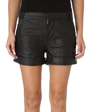 distressed-womens-leather-shorts
