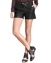 leather-shorts-with-a-bow-at-the-waistline