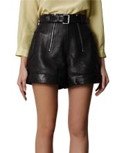 skirt-style-patterned-leather-shorts