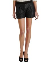 cuffed-hem-and-pleated-leather-short