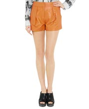 slant-pocket-leather-shorts