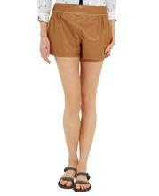 Cool and Subtle Style Leather Shorts