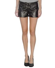 Trendy Laced Leather Shorts