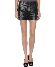 Retro Style Leather Shorts