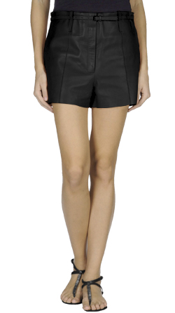 Stylish Belted Leather Shorts for Women