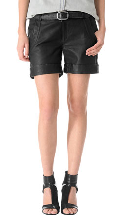 Slouchy and Stylish Leather Shorts