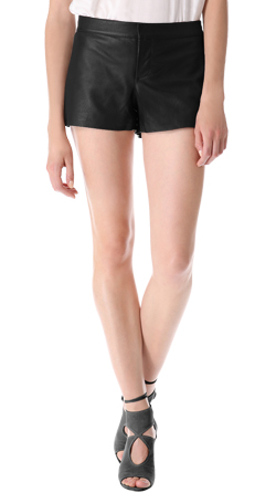 Tailored Fit Womens leather Shorts
