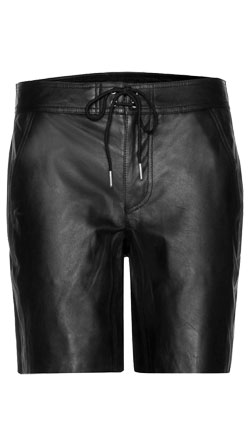 Modish-esque City Leather Shorts