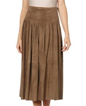 Casual Suede Leather Skirt for Women