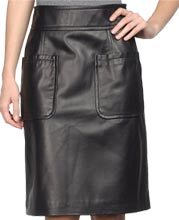 knee-length-pencil-cut-womens-leather-skirt