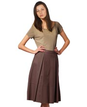 pleated-womens-leather-midi-skirt