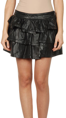 Cute and Sensuous Short Leather Skirt for Women