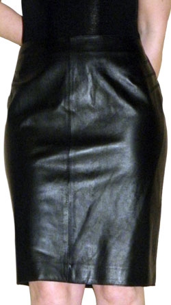Straight Style Groovy Leather Skirt for Women