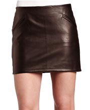 shiny-textured-formal-leather-skirts
