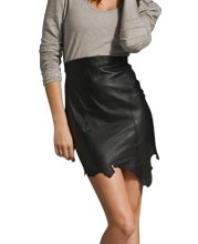 Burnt look Leather skirts