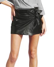 skintight-side-buckled-mini-leather-skirt