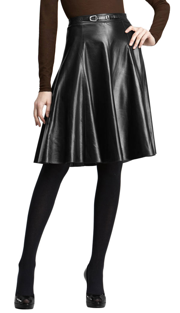 buy below hip pleated official leather skirt