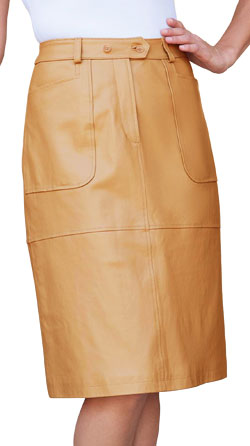 Slim Fitting Daily Wear Leather Skirt