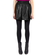 stylish-elastic-waistline-leather-skirt