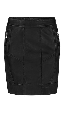 Skin Touch Bikers Style Leather Skirt