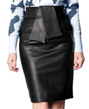 above-the-knee-length-skin-touch-leather-skirt