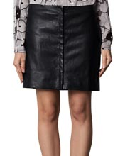 Bouncy A-Line Cut Leather Skirt