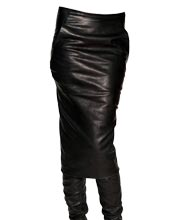 Trendy Wrapped Style Leather Skirt