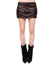 Stylish Biker Leather Mini Skirt