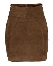 Slim and Elegant Suede Leather Skirt