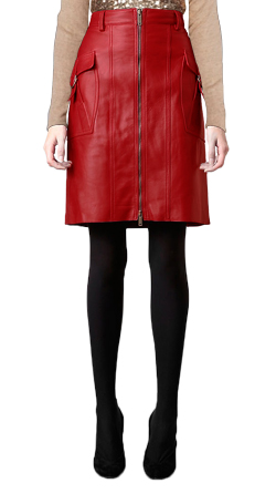 Cool Pencil Style Leather Skirt