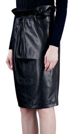 Glamorous and Timeless Leather Skirt