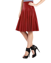 Pleated frisky Leather Skirt
