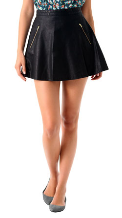 Rock-n-Roll Womens Leather Circle Skirt