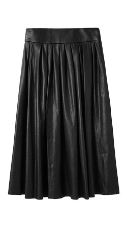 Swingy Womens Leather Skirt