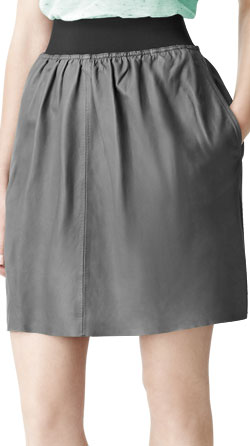 Skater Style Womens Leather Skirt